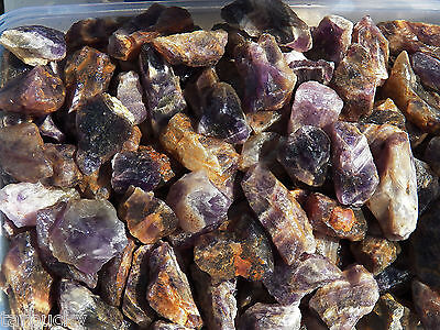 "1 LB BANDED AMETHYST  Rough 1"" Rock for Tumbling Tumbler POWER STONES"
