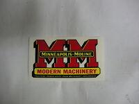 Minneapolis Moline Decal 2 3/4  X 5 Free Shipping