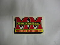 Minneapolis Moline Decal 2 3/4  X 5 Free Shipping