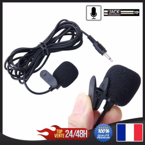 Microphone Micro 3.5mm prise jack 2.1m pour autoradio ou interface Bluetooth MP3