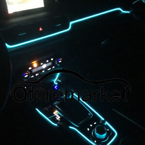 5m cool ice blue car led el wire neon light glow rope tube baleno ciaz brezza ebay. Black Bedroom Furniture Sets. Home Design Ideas