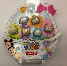Disney Tsum Tsums Pastel Parade GLITTER Exclusive EASTER Set Of 6!