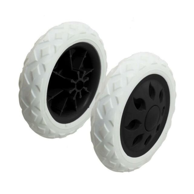 2x Black White Plastic Core Foam Shopping Trolley Cart wheel Casters