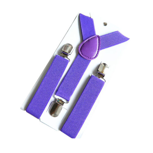 Children Kids Boy Girls Toddler Clip-on Suspenders Elastic Adjustable Braces w//