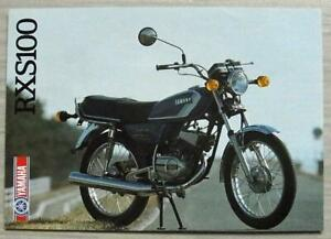 YAMAHA-RXS100-MOTORCYCLE-Sales-Specification-Leaflet-1986-LIT-3MC-0107953-86E
