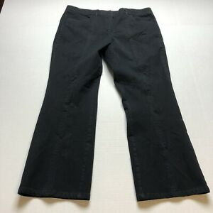 Isaac-Mizrahi-Live-Size-16-Black-Bootcut-Crop-27-Inseam-Pants-A1236
