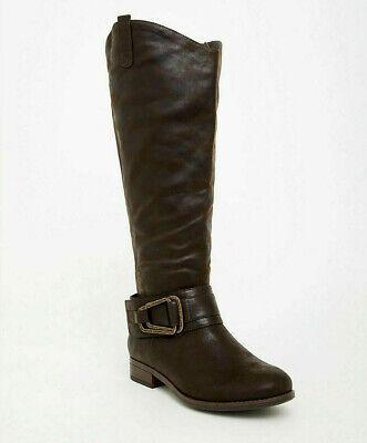 TORRID ( 9 ) BROWN BUCKLE WESTERN KNEE BOOT Chic Light Sheen Wide Width & Calf | eBay