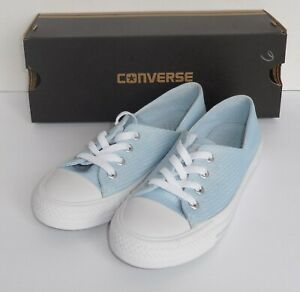 Converse-Womens-Size-6-Ctas-Coral-Ox-Shoes-Sneakers-Powder-Blue-555897F-New