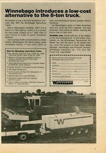 1974 Print Ad of Winnebago 5th Wheel Agricultural Trailer International Combine