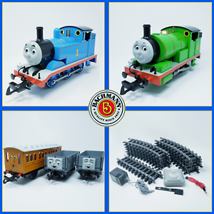 Bachmann-G-Scale-Thomas-amp-Friends-Percy-Thomas-Annie-amp-Trucks-Train-Set
