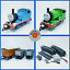Bachmann-G-Scale-Thomas-amp-Friends-Percy-Thomas-Annie-amp-Trucks-Train-Set thumbnail 1