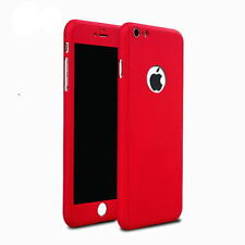 360° Full Body Hard Ultra thin Cover + Tempered Glass Case For iPhone 7 7 Plus