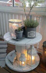 Tavolo Con Bobina In Legno.Dettagli Su Tavolino In Legno Realizzata Con Bobina Avvolgicavo Diametro 60 Vintage Design