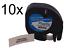 10x DRUCKER SCHRIFTBAND KASSETTE 12mm SW PLASTIC für DYMO LetraTag Plus LT-100T