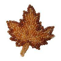Id 8937 Maple Tree Leaf Fall Autumn Season Leaves Beaded Iron On Applique Patch
