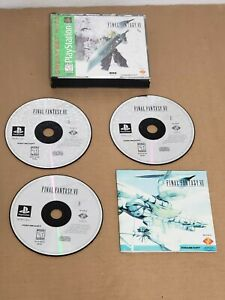 FINAL-FANTASY-VII-7-PlayStation-PSX-PS1-Greatest-Hits-FF7-3-Disc-COMPLETE-amp-MINT