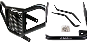 Yamaha Raptor 350  Grab Bar  Rear Bumper Aluminum  Alba Racing Silver  209 T5 S