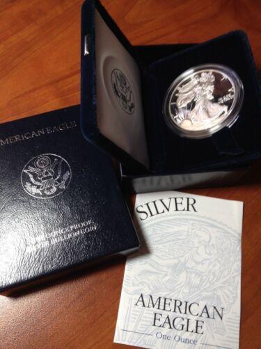 2005 PROOF AMERICAN SILVER EAGLE COIN DEEP CAMEO FRESH AC BOX /& COA