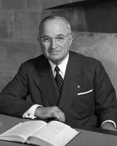 33rd US President HARRY S TRUMAN Glossy 8x10 Photo Political Print Poster