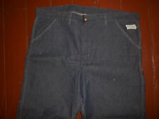 Vtg Mens Sears Blue Jeans Carpenter Pants NOS Indigo Stretch Denim 42 x 29 USA