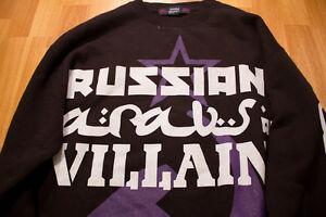 villanos M árabes Sudadera blanco con etiqueta ruso negro y púrpura premium medio zPOzSqw