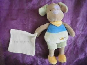 Doudou-chien-mouchoir-vert-bleu-jaune-marron-blanc-BABYNAT-BABY-NAT-039