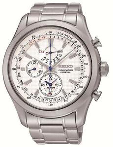Seiko SPC123 SCP123P1 Mens Chronograph Alarm Perpetual Calendar Watch RRP $595