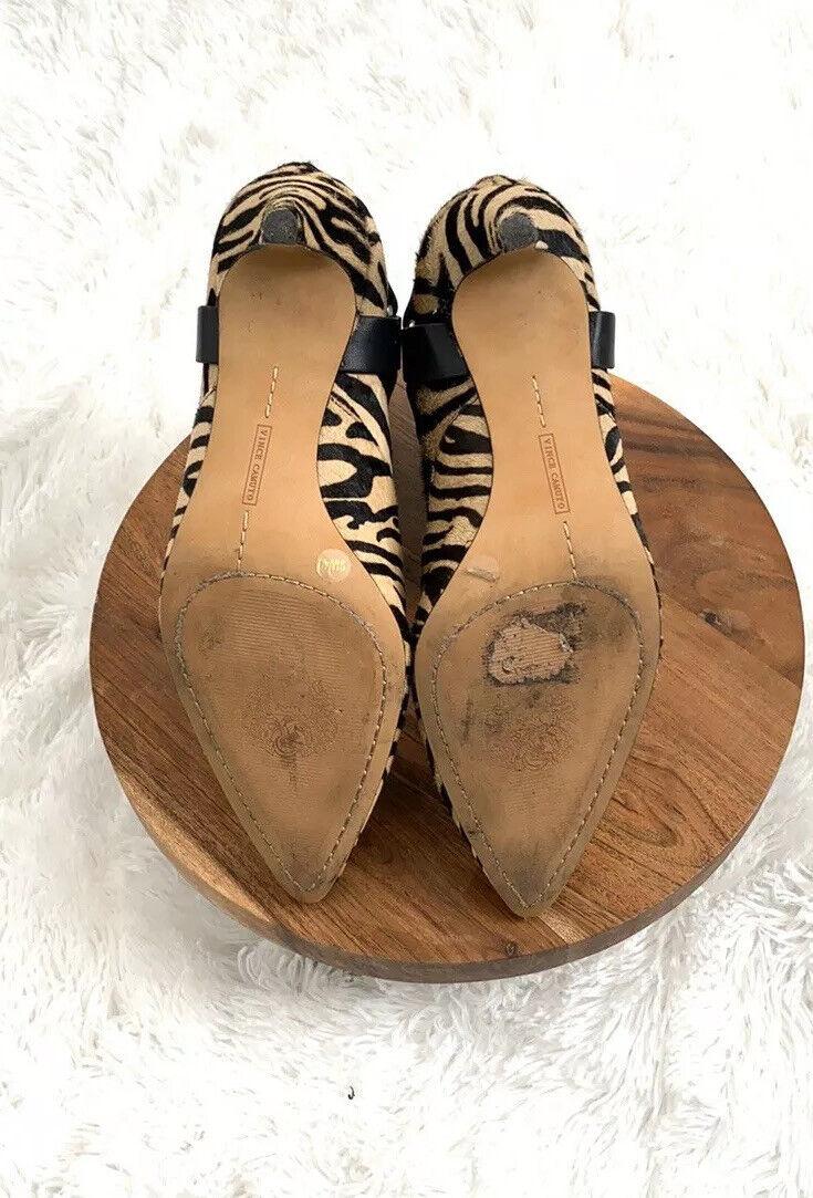 Vince Camuto Black Zebra Pattern Ankle Booties Bo… - image 7