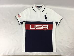 Navy Men's About Details Fit White Usa Ralph Slim Lauren Custom Size S Polo Shirt oexBrdC
