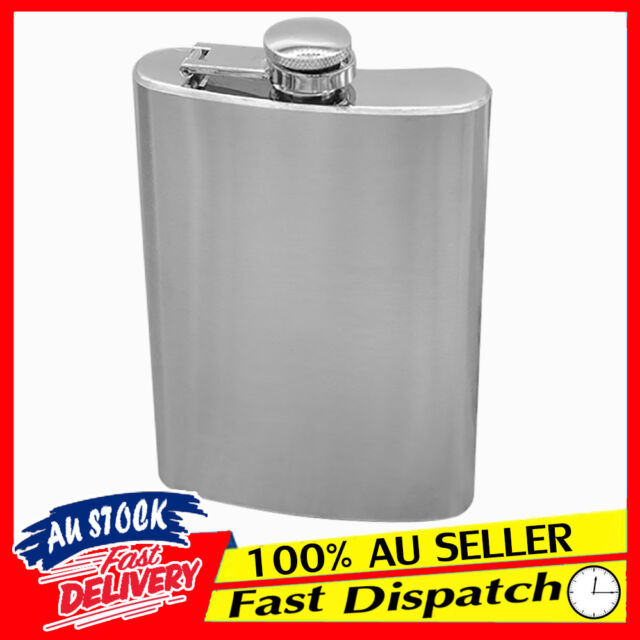 8oz 10oz STAINLESS STEEL REAL HIP FLASK POCKET SPIRITS BOTTLE WHISKY VODKA 6oz