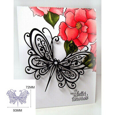 2x Butterfly Cutting Dies Stencil Album Paper Card Craft DIY Scrapbook Embossing