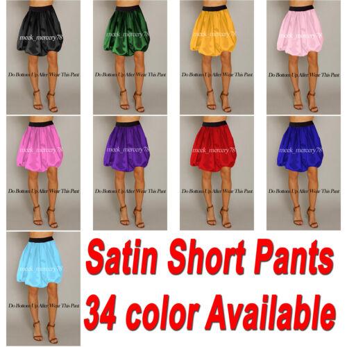 Satin lässige kurze Hosen formale Beachwear Kostüme Ballon Hose Damen kurze S60