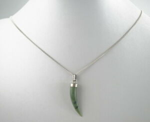 einmalige-835er-Silber-Halskette-amp-Anhaenger-Vintage-Jade-5-19g