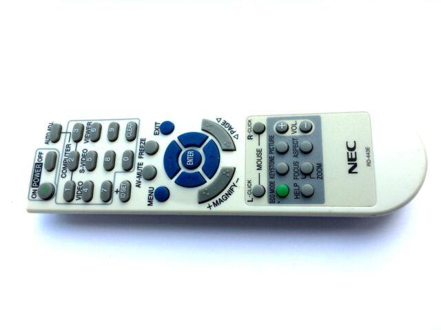 Genuino Original de control remoto de proyector NEC RD-443E