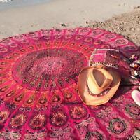 Indian Round Mandala Tapestry Wall Hanging Beach Throw Towel Yoga Mat Boho Decor