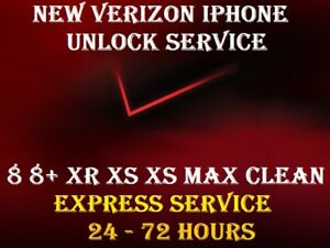 Details about NEW AUTHENTIC VERIZON UNLOCK SERVICE IPHONE 8 8+ XR XS XS MAX  24-72 HOURS
