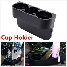 Black 2 Cup Holder Drink Beverage Seat Seam wedge Car Auto Truck Universal Mount