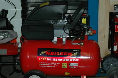 50 litre 2.0hp 230v electric compressor new and boxed