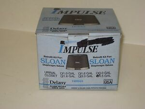 Delany Impulse Retrofit for Sloan Diaphragm Flush Valves NIB - I4004A-4.5