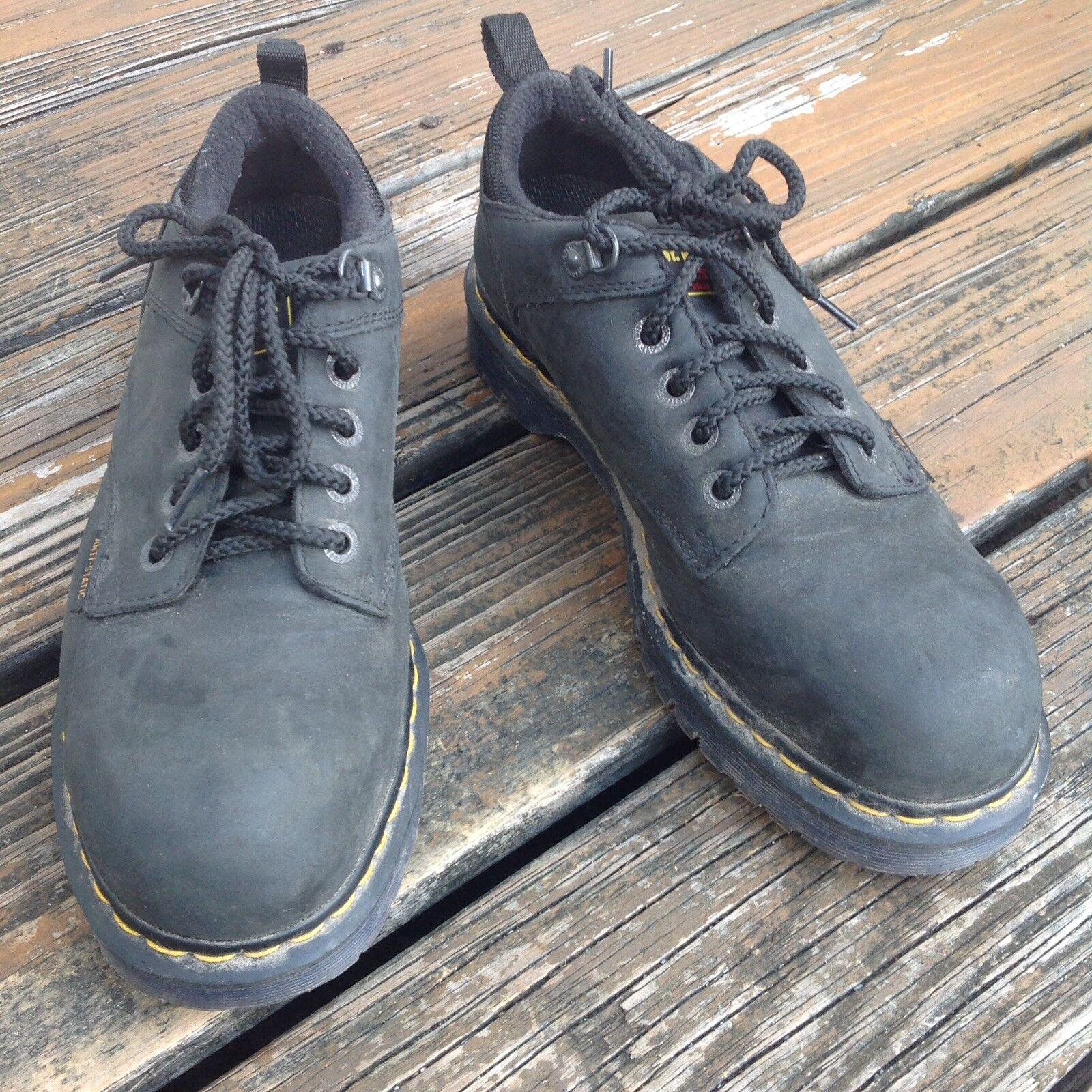 Dr Martens Docs Black Oxford Leather Steel Toe shoes Mens 10 Womens 11 EU 43 UK9