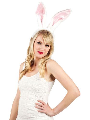 Paar Ohren Kaninchen Lang Weiß-Rosa Accessoire Kostüm Hase