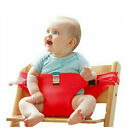 Baby Dining Belt Portable Infant Chair Seat Stretch Wrap Safty Cotton Belt New