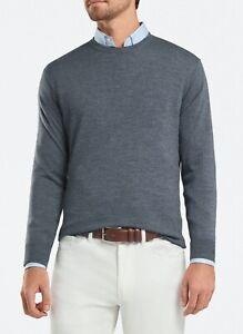 Peter-Millar-Size-XXLARGE-XXL-Crown-Wool-amp-Silk-Sweater-Color-Charcoal-Grey