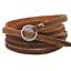 Fashion-Unisex-Coffee-Leather-Punk-Bangle-Multilayers-Bracelet-Buckle-Wristband thumbnail 3