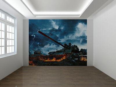 Three Tanks in the Rain Forest Wallpaper Mural Photo 57143716 premium paper