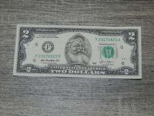 The Santa Claus Dollar Bill Real U.S. $2 Dollar Bill Money Santa Dollar NEW