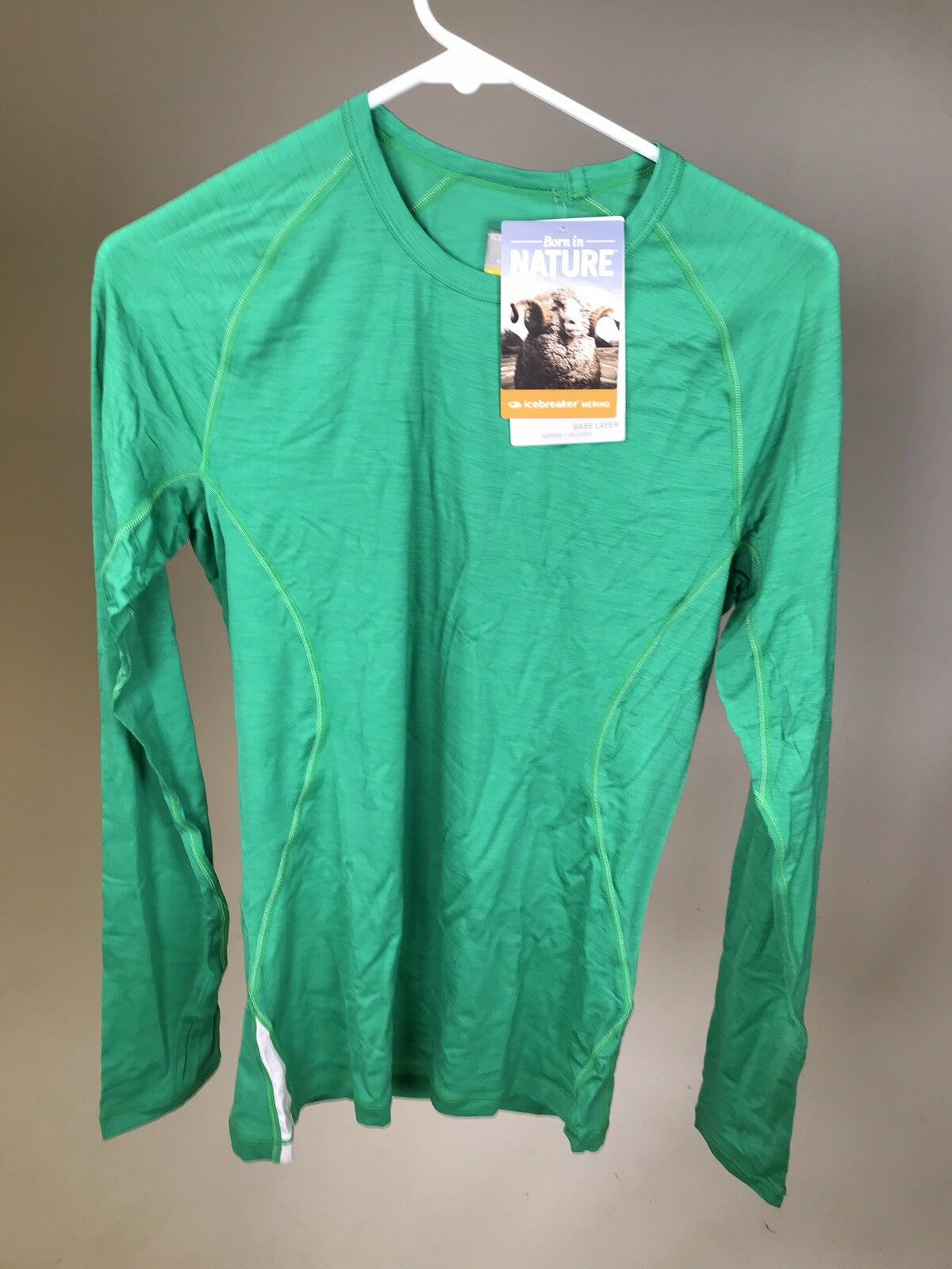 ICEBREAKER Men's Merino Wool Men's 150 Relay Long Sleeve Crew Shirt - NEW