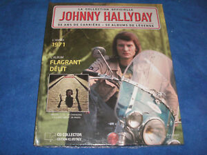 JOHNNY-HALLYDAY-FLAGRANT-DELIT-COLLECTION-OFFICIELLE-CD-COLLECTOR-LIVRET-NEUF