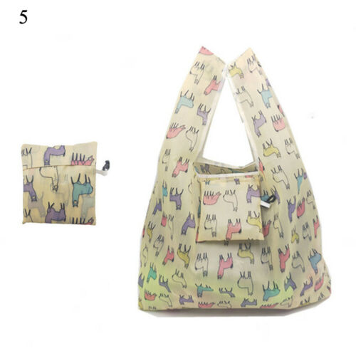 Portable Grocery Fold Green Recycle Eco Reusable Tote Fruit Vegetable Shopping