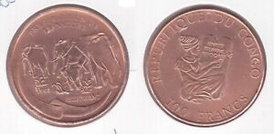 CONGO-RARE-COPPER-100-FRANCS-PROOF-COIN-1993-YEAR-KM-20-ELEPHANT